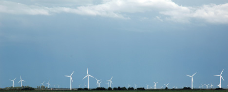 wind farm Carbon offsetting is beneficial to the environment